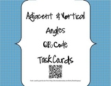 Adjacent and Vertical Angles QR Code Task Cards