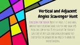 Adjacent and Vertical Angles Scavenger Hunt (with Emojis!)