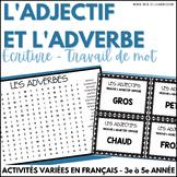 Adjectif et adverbe - Activités variées