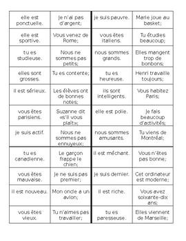 Adjectifs (French Adjectives) Cercle magique