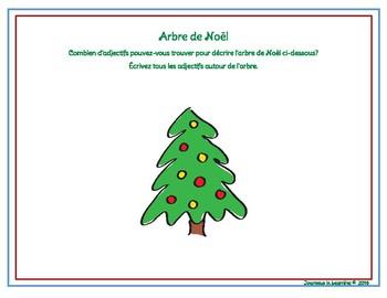 Adjectifs de Noël