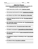 Adjectival Clauses Worksheet