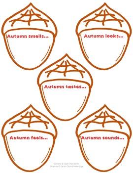Adjective Acorns FREEBIE