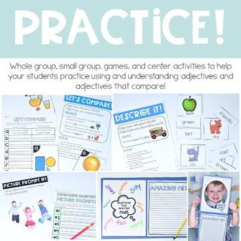 Adjective Activities Descriptive, Comparative, and Superlative