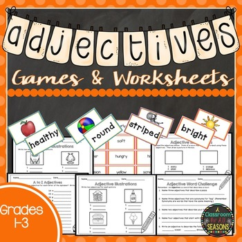 Adjectives Worksheets and Games