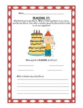 Adjective Activities for Writer's Workshop