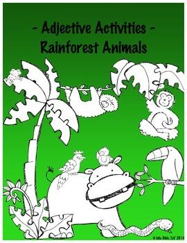 Adjective Activity - Rainforest Animals