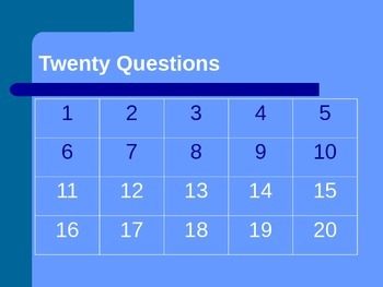 Adjective & Adverb 20 Questions Review Game CCSS: L.3.1