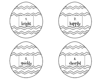 Adjective & Adverb Easter Egg Hunt