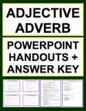 Adjective Adverb Modification Activities - Worksheets, Powerpoint & Answer Key