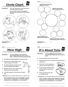 Adjectives and Adverbs Worksheets