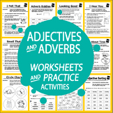 Adjective & Adverb Activities – 2nd-3rd Grade Adjective & Adverb Worksheets