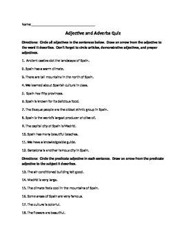 Adjective & Adverb Quiz