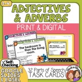 Adjective & Adverb Task Cards: Comparative and Superlative, CCSS.L.3.1g