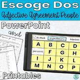 Spanish Adjectives Practice Escoge Dos