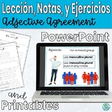 Adjective Agreement Describing People Lesson and Practice