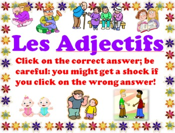 Adjective Agreement Multiple Choice