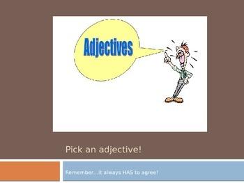 Adjective Agreement Powerpoint
