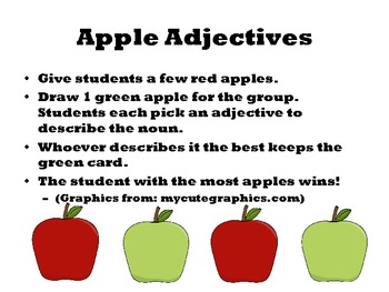 Adjective Apples