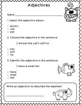 Adjective Assessments