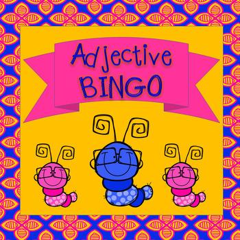 Adjective BINGO center game