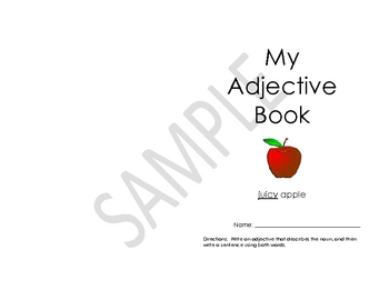 Adjective Booklet