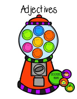 Adjective-Bubblegum Errorless File Folder Activity