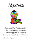Adjective-Bubblegum Errorless File Folder Activity