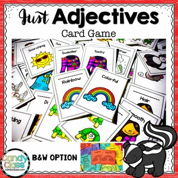 Adjective Game Cards (Color & BW Options)