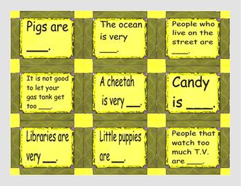 Adjective Cards