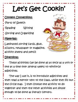 Adjective Center Activities