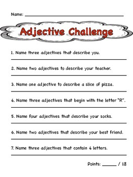 Adjective Challenge
