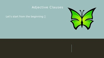 Adjective Clause PPT.