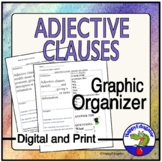 Adjective Clauses Graphic Organizer