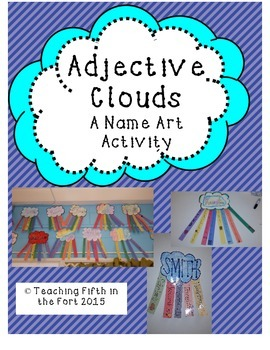 "Adjective ""Clouds"" Seasonal Name Poetry and Art Activity"