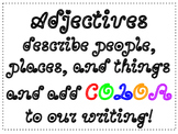 Adjective Colorful Words Anchor Chart
