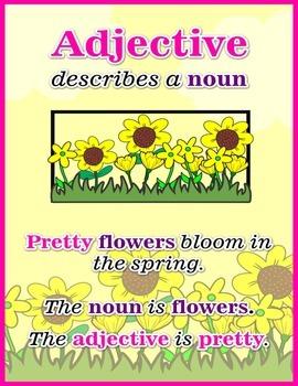 Adjective Describe a Noun Poster