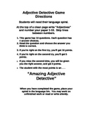 Adjective Detective Station Folder Game for Centers, DIY's
