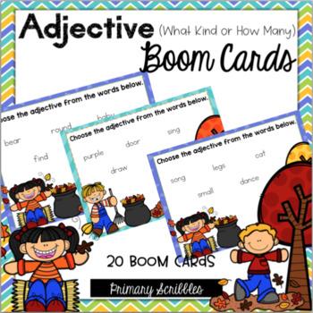 Adjective Digital Boom Task Cards