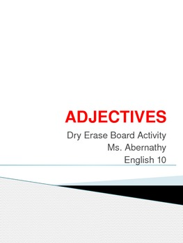 Adjective Dry Erase Board Activity