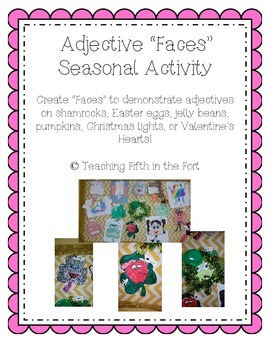 "Adjective ""Faces"" Seasonal Craft Activity"