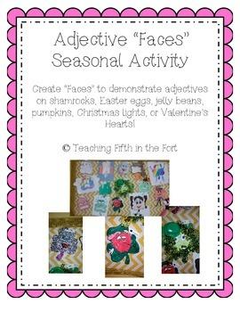 "Adjective ""Faces"" Seasonal Craft Activity"