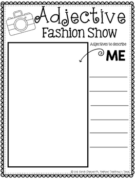 Adjective Fashion Show Response