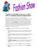 Adjective Fashion Show activity/project (with a partner)