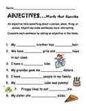 Adjective Fill-In