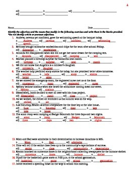 Adjective Skill Builder (Fill-in-the Blanks)