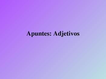 Adjective Flashcards for Spanish II-AP