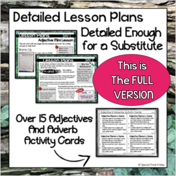 Adjective Activities FREE