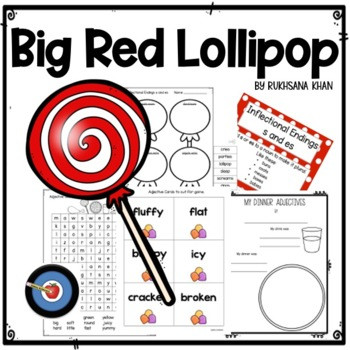 Adjective Game Inspired by The Big Red Lollipop by Rukhsana Khan