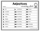 Adjective Grammar Task Cards, Games, and Centers